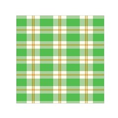Abstract Green Plaid Small Satin Scarf (square) by BangZart