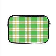 Abstract Green Plaid Apple Macbook Pro 15  Zipper Case