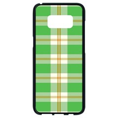 Abstract Green Plaid Samsung Galaxy S8 Black Seamless Case