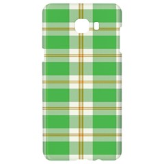 Abstract Green Plaid Samsung C9 Pro Hardshell Case  by BangZart