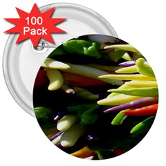 Bright Peppers 3  Buttons (100 Pack)  by BangZart