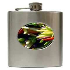Bright Peppers Hip Flask (6 Oz) by BangZart