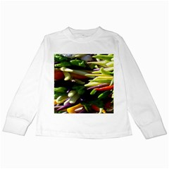 Bright Peppers Kids Long Sleeve T Shirts by BangZart