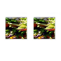 Bright Peppers Cufflinks (square)