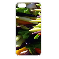 Bright Peppers Apple Iphone 5 Seamless Case (white) by BangZart