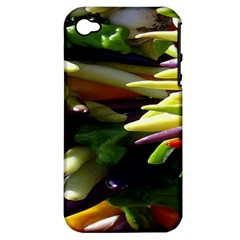 Bright Peppers Apple Iphone 4/4s Hardshell Case (pc+silicone) by BangZart