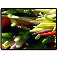 Bright Peppers Double Sided Fleece Blanket (large)  by BangZart