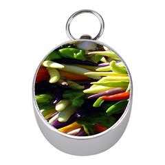 Bright Peppers Mini Silver Compasses by BangZart
