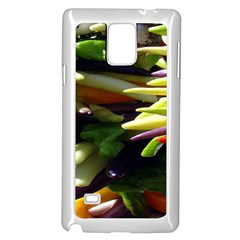 Bright Peppers Samsung Galaxy Note 4 Case (white) by BangZart