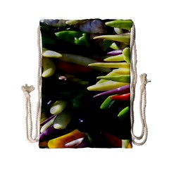Bright Peppers Drawstring Bag (small) by BangZart