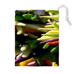 Bright Peppers Drawstring Pouches (extra Large)
