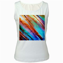 Cool Design Women s White Tank Top