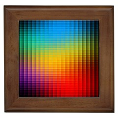 Blurred Color Pixels Framed Tiles
