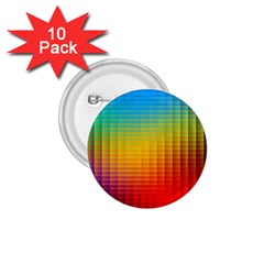 Blurred Color Pixels 1 75  Buttons (10 Pack)