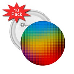 Blurred Color Pixels 2 25  Buttons (10 Pack)  by BangZart