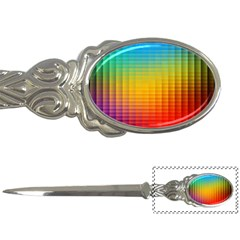 Blurred Color Pixels Letter Openers
