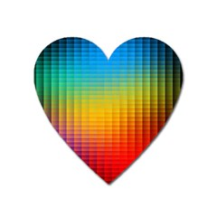 Blurred Color Pixels Heart Magnet by BangZart