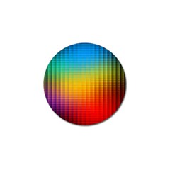 Blurred Color Pixels Golf Ball Marker by BangZart