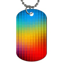 Blurred Color Pixels Dog Tag (two Sides) by BangZart