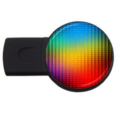 Blurred Color Pixels Usb Flash Drive Round (2 Gb) by BangZart