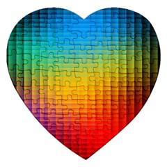 Blurred Color Pixels Jigsaw Puzzle (heart)