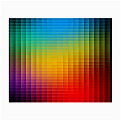Blurred Color Pixels Small Glasses Cloth by BangZart