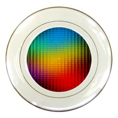 Blurred Color Pixels Porcelain Plates
