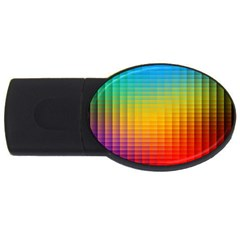 Blurred Color Pixels Usb Flash Drive Oval (4 Gb) by BangZart