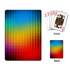 Blurred Color Pixels Playing Card by BangZart