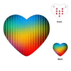 Blurred Color Pixels Playing Cards (heart)  by BangZart