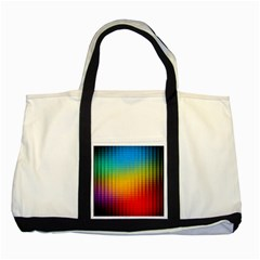 Blurred Color Pixels Two Tone Tote Bag by BangZart