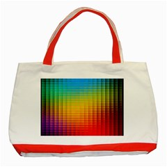 Blurred Color Pixels Classic Tote Bag (red)