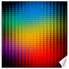 Blurred Color Pixels Canvas 16  X 16   by BangZart
