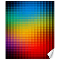 Blurred Color Pixels Canvas 20  X 24   by BangZart