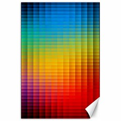 Blurred Color Pixels Canvas 20  X 30   by BangZart