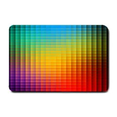 Blurred Color Pixels Small Doormat  by BangZart