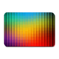 Blurred Color Pixels Plate Mats by BangZart