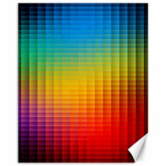 Blurred Color Pixels Canvas 11  X 14   by BangZart