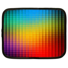 Blurred Color Pixels Netbook Case (large) by BangZart