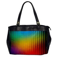 Blurred Color Pixels Office Handbags