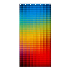 Blurred Color Pixels Shower Curtain 36  X 72  (stall)  by BangZart