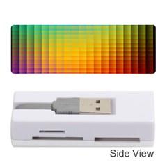 Blurred Color Pixels Memory Card Reader (stick)