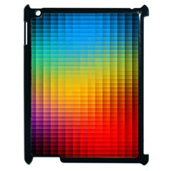 Blurred Color Pixels Apple Ipad 2 Case (black) by BangZart