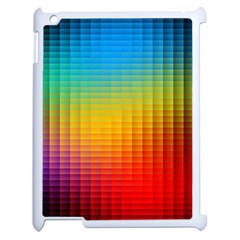 Blurred Color Pixels Apple Ipad 2 Case (white) by BangZart