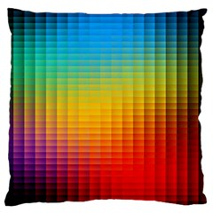 Blurred Color Pixels Large Cushion Case (one Side) by BangZart