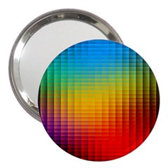 Blurred Color Pixels 3  Handbag Mirrors