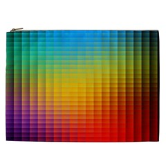 Blurred Color Pixels Cosmetic Bag (xxl)  by BangZart
