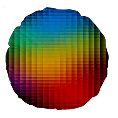 Blurred Color Pixels Large 18  Premium Round Cushions by BangZart