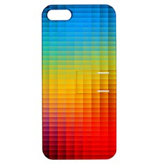 Blurred Color Pixels Apple Iphone 5 Hardshell Case With Stand by BangZart