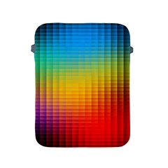 Blurred Color Pixels Apple Ipad 2/3/4 Protective Soft Cases by BangZart